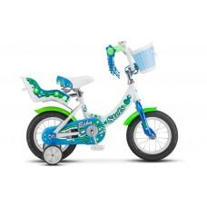 "12"" Велосипед Stels ECHO 8 рама (Белый/морская-волна)"