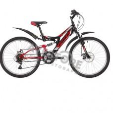 """24"""" Велосипед FOXX FREELANDER, сталь, 14 (черный)"""