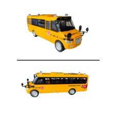 Автобус металл. со звуком и светом 671D