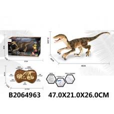Динозавр р/у с пультом управ., демо режим, свет эфекты, в/к 47*21*26 см