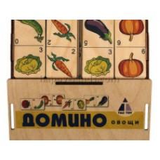 """Игра """"Домино Овощи"""" цвет, коробка"""