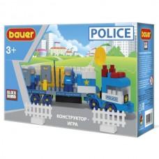 """Конструктор Бауер """"Полиция"""" набор Грузовик с вооружением и группой быстрого реагирования"""