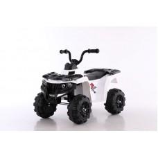 Квадроцикл на аккумуляторе.Колесо: пластик.пласт.сиденье: Скорость 2,5км/ч (белый)