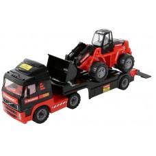 """MAMMOET VOLVO"", автомобиль-трейлер + трактор-погрузчик"