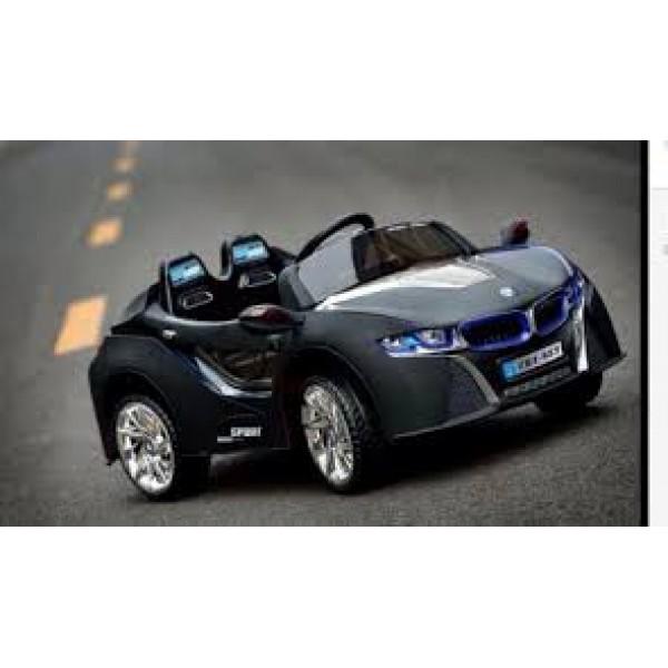 Машина на аккум. без р/у надувные колеса, свет (черный)