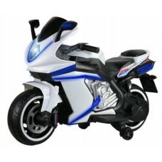 Мотоцикл двухколёсный на аккум.12V4.5A*1. USB, MP3, колеса пластик, 1 двигатель*550W, свет LED,белый