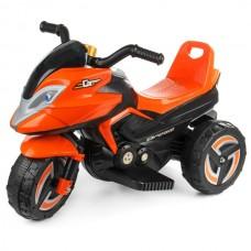 Мотоцикл на аккум. (6v7ah*1), колеса пластик, 2 скорости, свет, звук, цв. белый, в/к