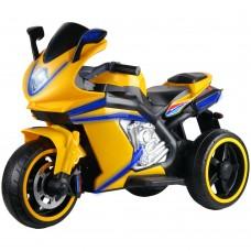 Мотоцикл трёхколёсный на аккум.12V4.5A*1. USB, MP3, колеса пластик, 1 двигатель*550W, свет LED,желт.