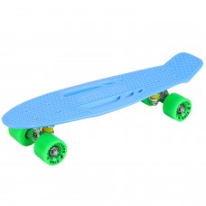 """Скейтборд Fish голубой, размер 22""""*6"""", колеса: 59*43мм  78А, PU, ABEC-7"""